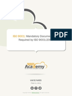White Paper Mandatory Documentation Required by ISO 9001 2008 En