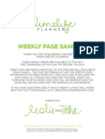 Lime Life Teacher Weekly Samples