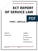 Project Report of Service Law