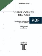 BAUER, H. - HISTORIOGRAFÍA DEL ARTE Introducción Crítica Al Estudio de La Historia Del Arte. HERMANN BAUER