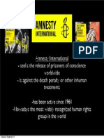 Amnesty International Information Sheet