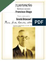 EL SOTAREÑO. Bambuco original de Francisco E. Diago. Transc. para piano Gerardo Betancourt.