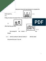 27634917 Soalan ENGLISH BI Bahasa Inggeris Tahun 2 Paper 1