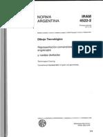 IRAM 4522 Representación de Engranajes