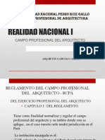 Campo Profesional Del Arquitecto