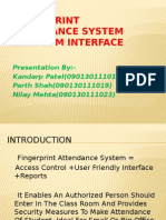Fingerprint Attendance System With GSM Interface