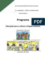 Programa Educação Para a Cultura e Línguas Clássicas