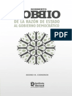 Bobbio de La Razon de Estado Al Gobierno Democratico