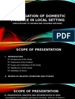 Investigation of Domestic Violence in Local Setting