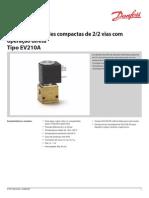2_2 Vias Válvulas Solenóide Compacto Diretos Operados Tipo EV210A IC.pd.100.A6.28 RJA