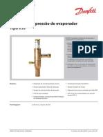 Regulador de Pressão Do Evaporador, Digite KVP DKRCC.pd.HA0.D4.28