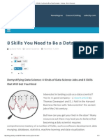 8 Skills You Need to Be a Data Scientist - Udacity - Be in Demand