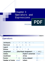 3 Operators and Expressions