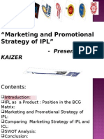 """""""Marketing and Promotional Strategy of IPL"""""""