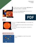 Solar System Lesso Plan