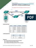 2.3.2.3 Lab - Configuring Rapid PVST+, PortFast, and BPDU Guard - ILM.pdf