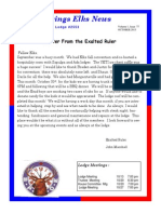 Sand Springs Elks October 2015 Newsletter