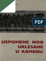 Uspomene NOB Uklesane u Kamenu - Antun Kozina (1966)