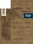 ONE HUNDRED YEARS in CEYLON Centenary Volume of the Church Missinary Society in Ceylon 1818-1918 by the Rev J.W.balding C.M.S.