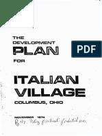 Development Plan Italian Village 1974 Reduced