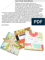 Tutorials and Colors -Charm Pack Quilt Blocks