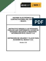 Obtención de Usuario y Clave Para Acceder Al Seace v.3.0