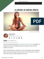 5 Pasos Para Aliviar El Estrés Diario