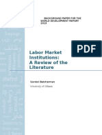 WDR2013 Bp Labor Market Institutions