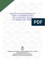 Manual de Procedimiento Para La Preservacion Del Lugar Del Hecho en La Escena Del Crimen