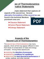 Second Law of Thermodynamics Alternative Statements