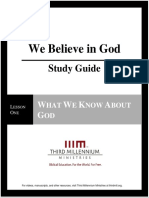 We Believe In God - Lesson 1 - Study Guide
