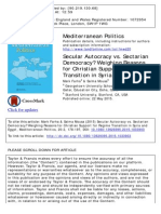 Autocracy vs Sectarian Democracy_Weighing Reasons for Christian Support Transition in Syria and Egypt