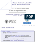 A Collection of Website Benchmarks Labelled for {T}emplate Detection and Content Extraction