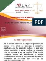 4 TUTELA POSESORIA- derecho civil III - reales