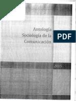 Antología de Sociología de la Comunicación