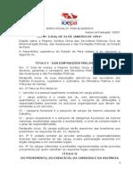 Lei 5810-94 - Regime Jurídico Único Do Estado Do Pará