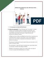 AUTONOMIA Y AFIRMACION PERSONAL DEL NIÑO DEL NIVEL INICIAL