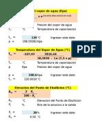 Caculo Analitico de Evaporacion