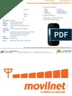 Caractersticas y Programacin Del Equipo ZTE V795 Kis II