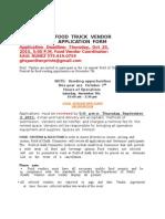 food truck vendor 2015 application