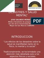 Desastres y Salud Mental