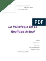 La Psicología en El Mundo Actual