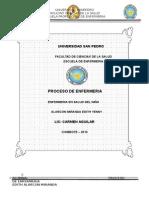 proceso enfermeria apendicectomia NIÑO