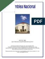 Ley Organica Asamblea Nacional de Nicaragua