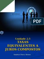 Matematica Unidade 10 - Taxas Equivalentes a Juros Compostos