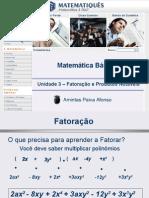 Matematica Unidade 12 - Fatoração e Produtos Notáveis