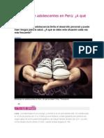 Embarazo en Adolescentes en Perú
