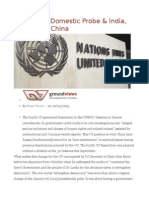 Sri Lanka's Domestic Probe & India, The US and China