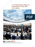 TGTE to Form an International Team to Monitor Implementation of the HRC Resolution on Sri Lanka