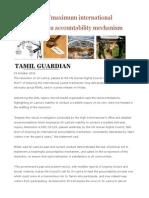 PEARL Urges 'Maximum International Involvement' in Accountability Mechanism
